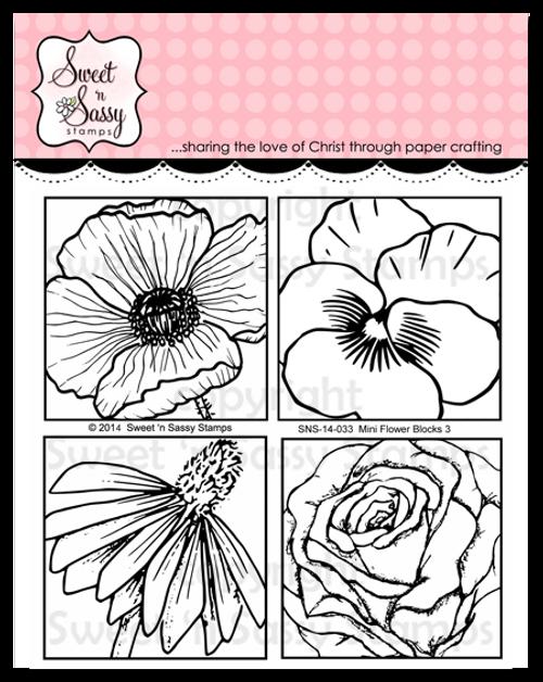 Mini Flower Blocks 3 Clear Stamp Set