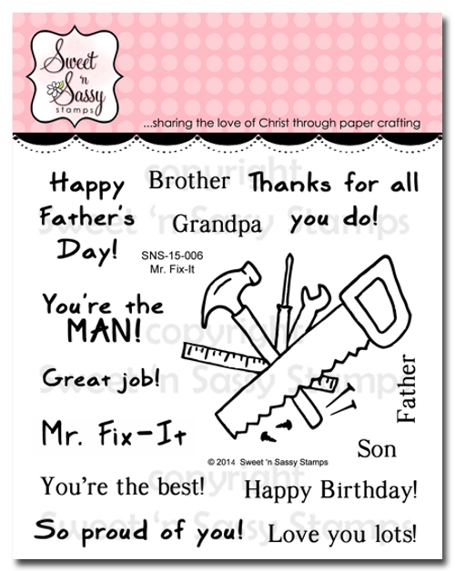 Mr. Fix-It Clear Stamp Set