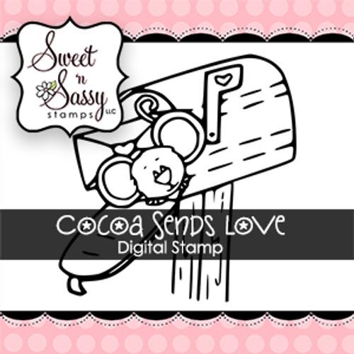 Cocoa Sends Love Digital Stamp