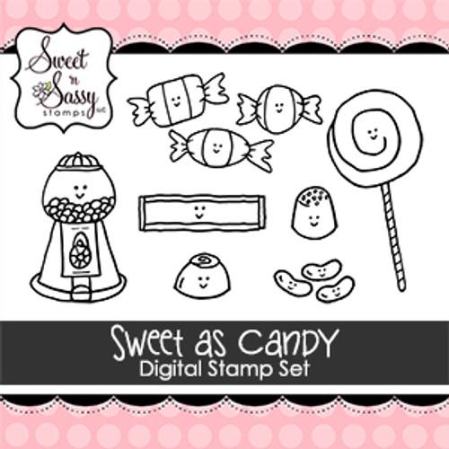 Sweet as Candy Digital Stamp Set