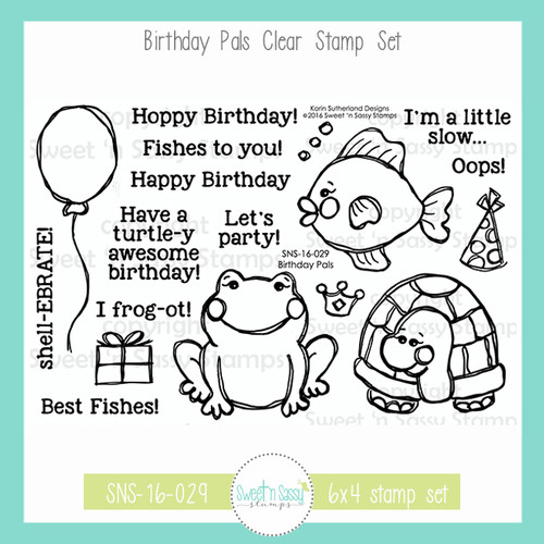 Birthday Pals Clear Stamp Set
