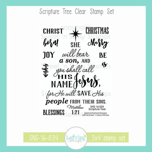 Scripture Tree Clear Stamp Set