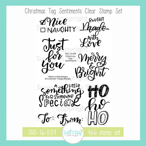 Christmas Tag Sentiments Clear Stamp Set