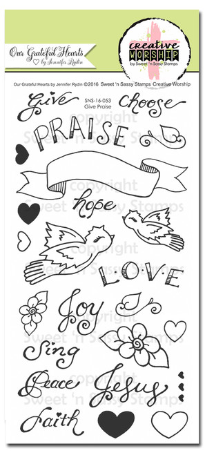 Creative Worship: Give Praise Clear Stamp Set