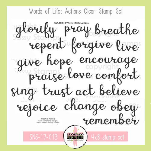 Creative Worship: Words of Life- Actions Clear Stamp Set