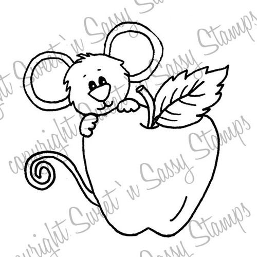 An Apple for Cocoa Digital Stamp
