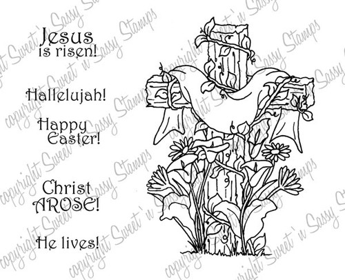 Christ Arose Digital Stamp