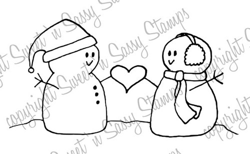 Snow Friends Digital Stamp