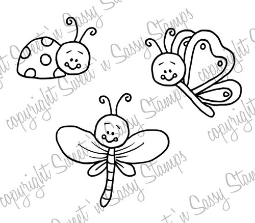 Bitty Bugs Digital Stamp