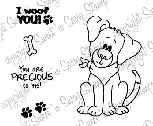 Puppy Love Digital Stamp