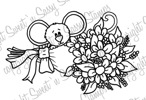 Flowers from Cocoa Digital Stamp