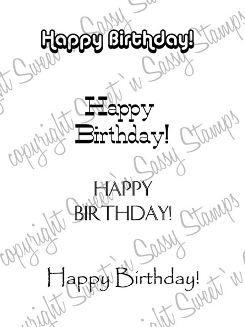 Masculine Birthday Greetings Digital Stamp