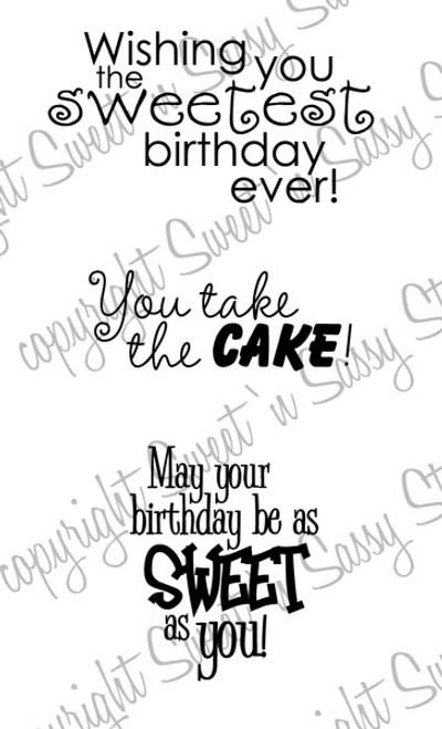 Sweet Birthday Wishes Digital Stamp