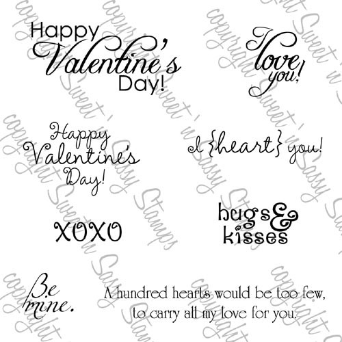 Valentine's Day Greetings Digital Stamp