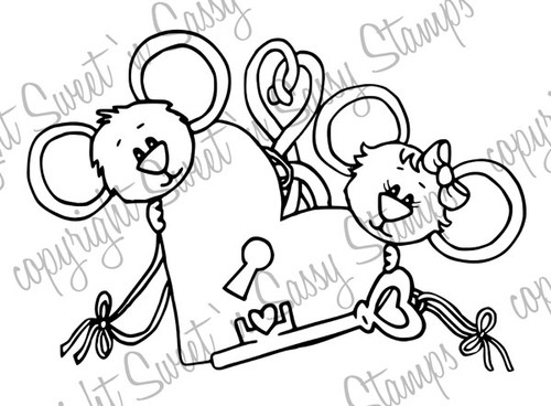Key to Cocoa's Heart Digital Stamp