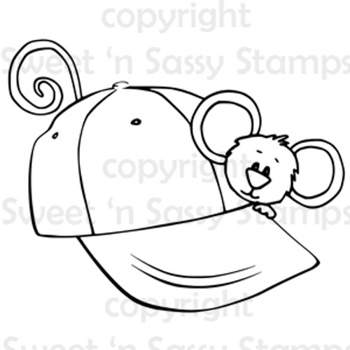 Cocoa's Baseball Hat Digital Stamp