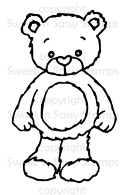 Rhubarb the Teddy Bear Digital Stamp