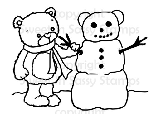 Rhubarb Builds a Snowbear Digital Stamp