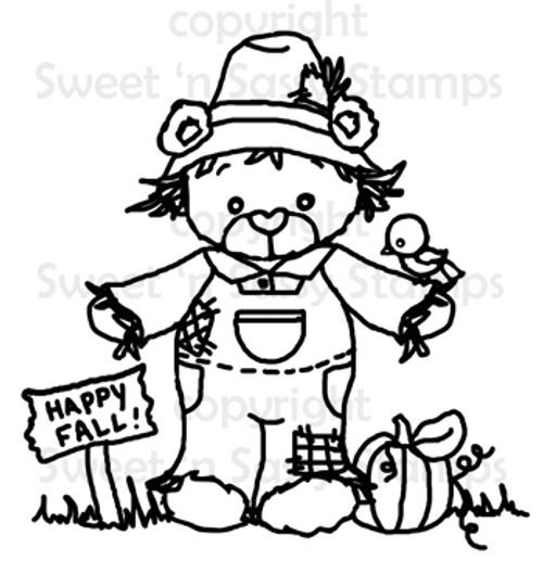 Rhubarb Scarecrow Digital Stamp