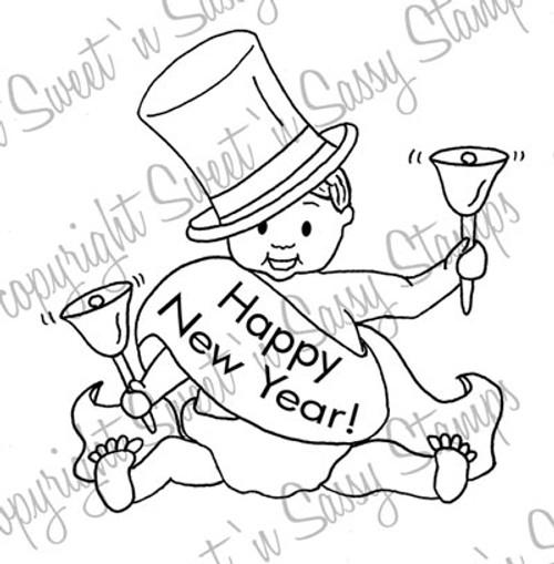 Baby New Year Digi Stamp