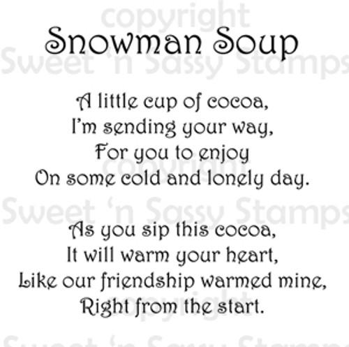 Snowman Soup Poem Digital Stamp