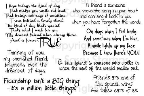 True Friend Sentiments Digital Stamp Set