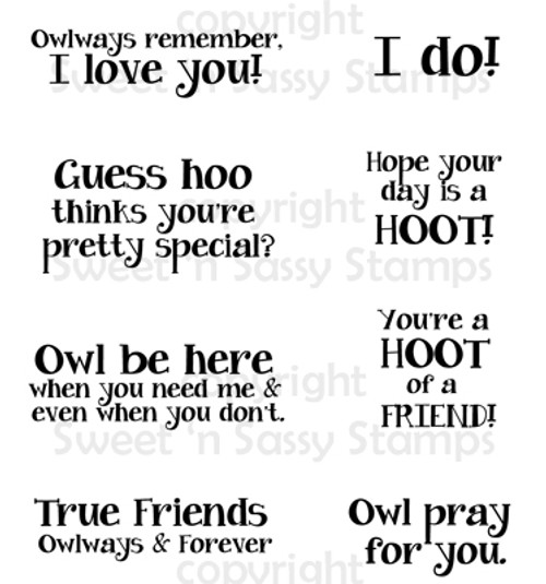 Owl Sentiments 2 Digital Stamp