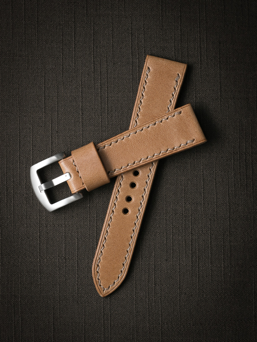 """""""Durand"""" Natural Leather Watch Strap"""