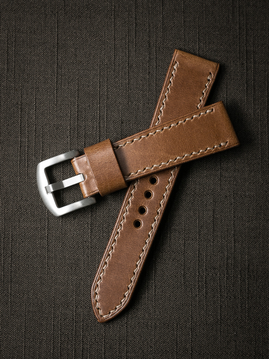 """'Madigan"""" Whiskey Leather Watch Strap"""