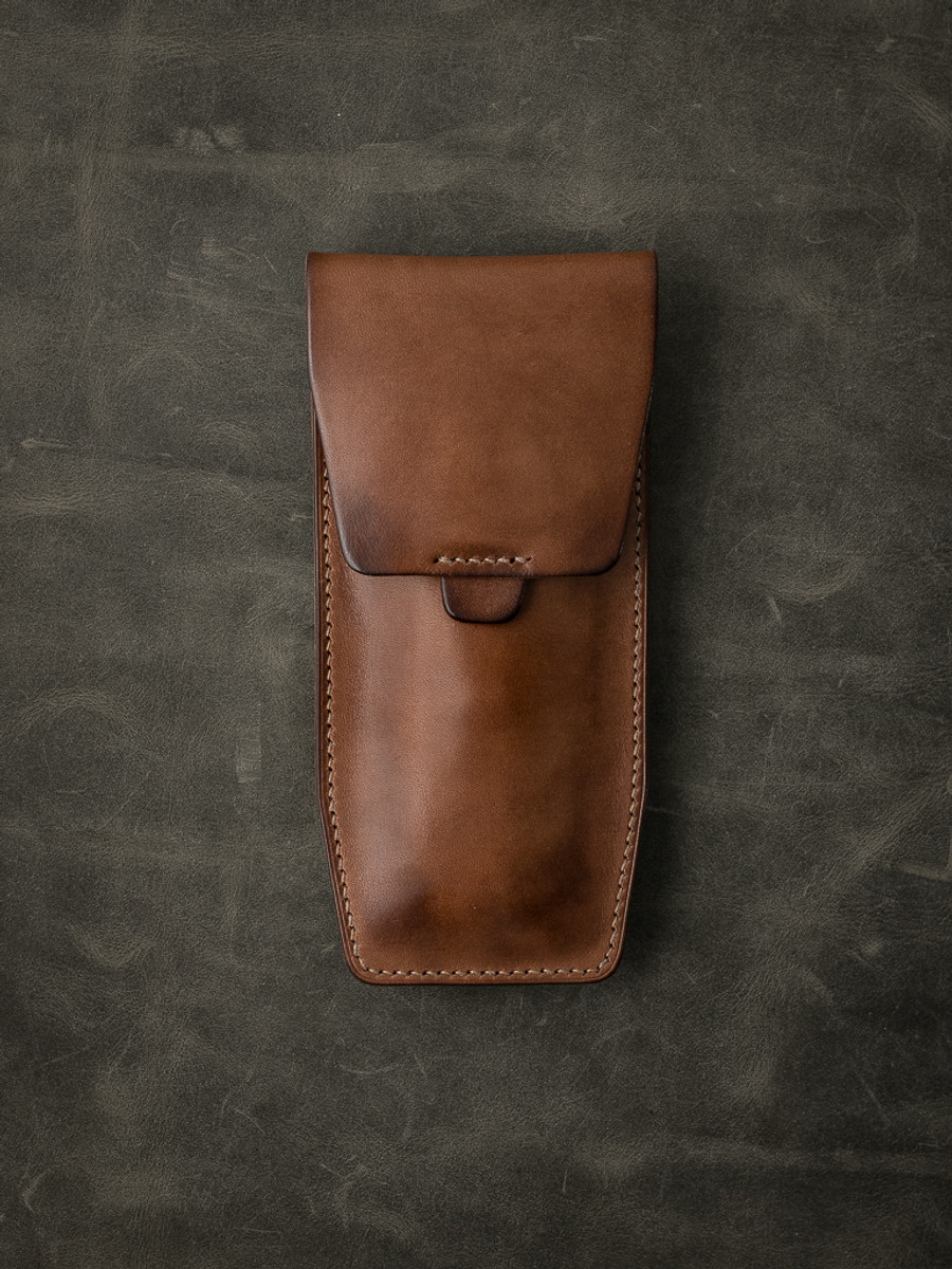 """""""Kingsford"""" Russet Vintage Tan Leather Watch Pouch"""