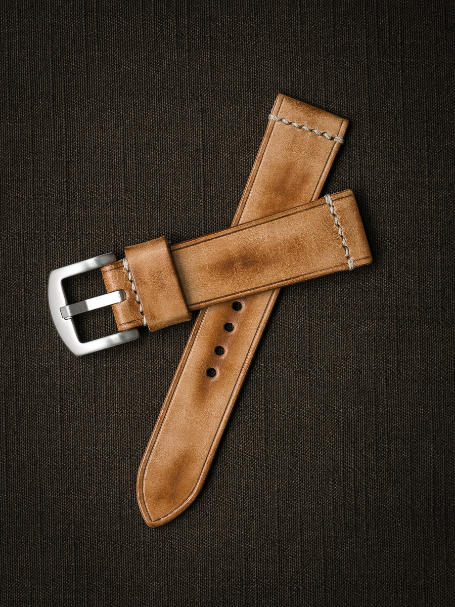 """""""Copeland"""" Natural Vintage  Leather Watch Strap"""