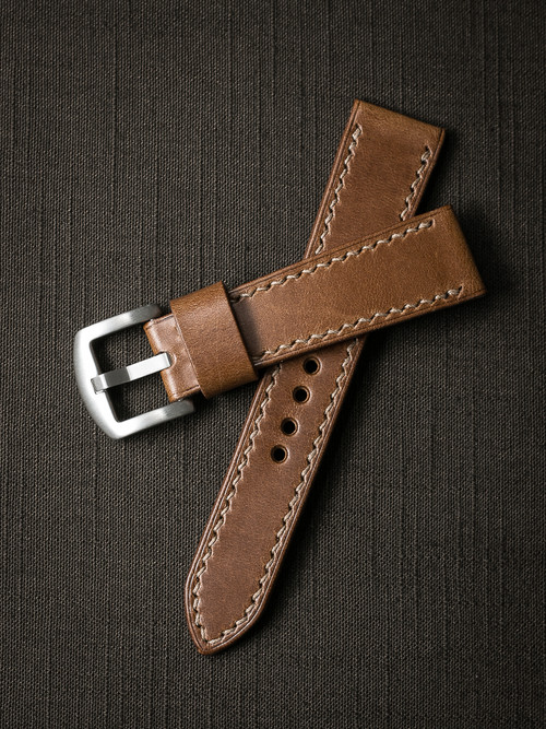 "'Madigan"" Whiskey Leather Watch Strap"