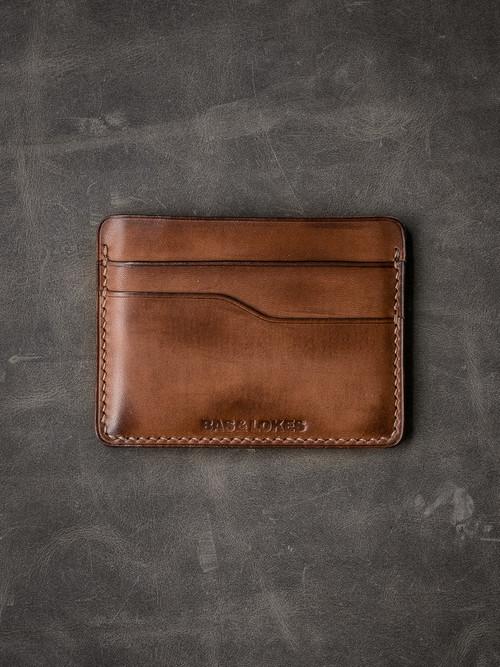 """""""Ford v2"""" Russett Vintage Tan  Slim Leather Wallet"""
