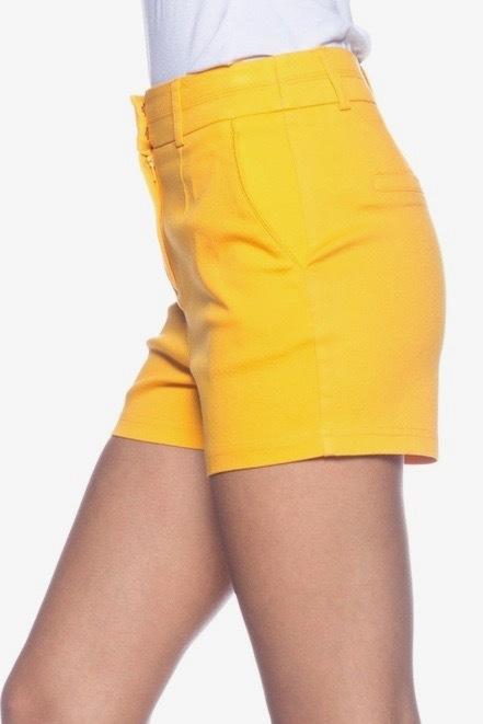Women's Yellow Shorts
