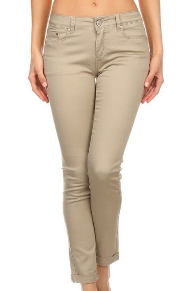 Khaki Stretch Pants