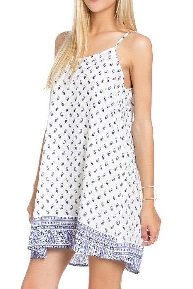 Blue Summer Slip Dress