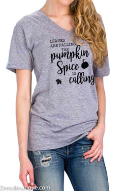 Pumpkin Spice...Grey Graphic T-Shirt