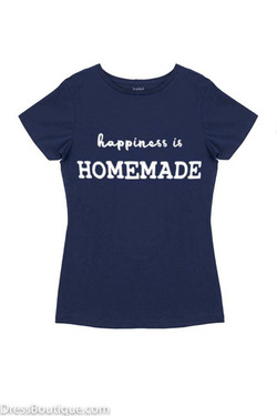 Happiness is Homemade Navy Graphic T-Shirt