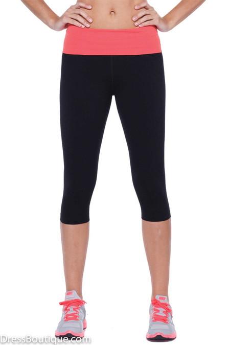 Pink Trim Flex Fit Yoga Pants
