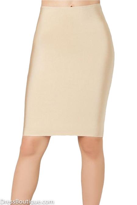 Luxe Beige Bodycon Bandage Skirt