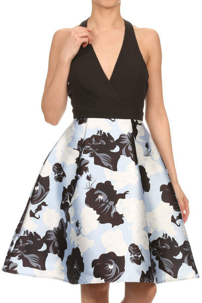 Floral Halterneck Dress