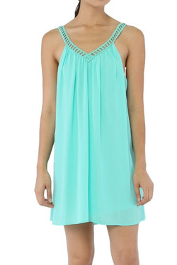 Mint Green Slip Dress