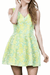 Light Green Fitted Dress