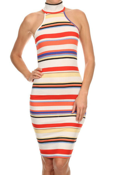 Striped Bodycon Summer Dress