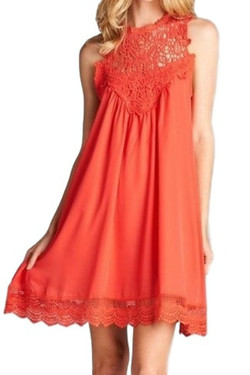 Light As Air Lace Detail Summer Dress