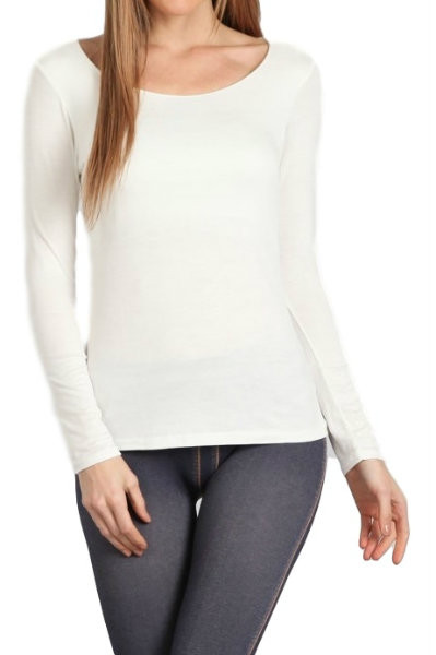 Italian Long Sleeve Tailored Knit T-Shirt
