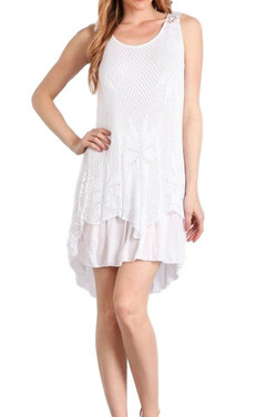 Italian White Lace Dress