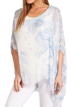 Italian Silk Print Blouse