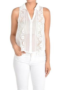 Sleeveless Lace Shirt