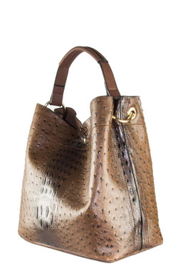 Brown Croc Satchel